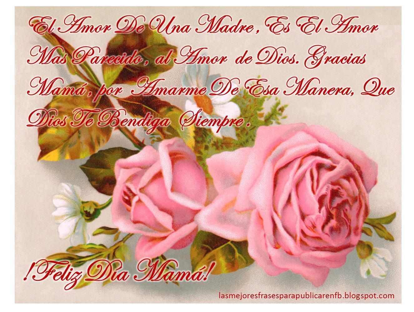Frases Da De La Madre El Amor De Una Madre Es El Amor Mas Parecido
