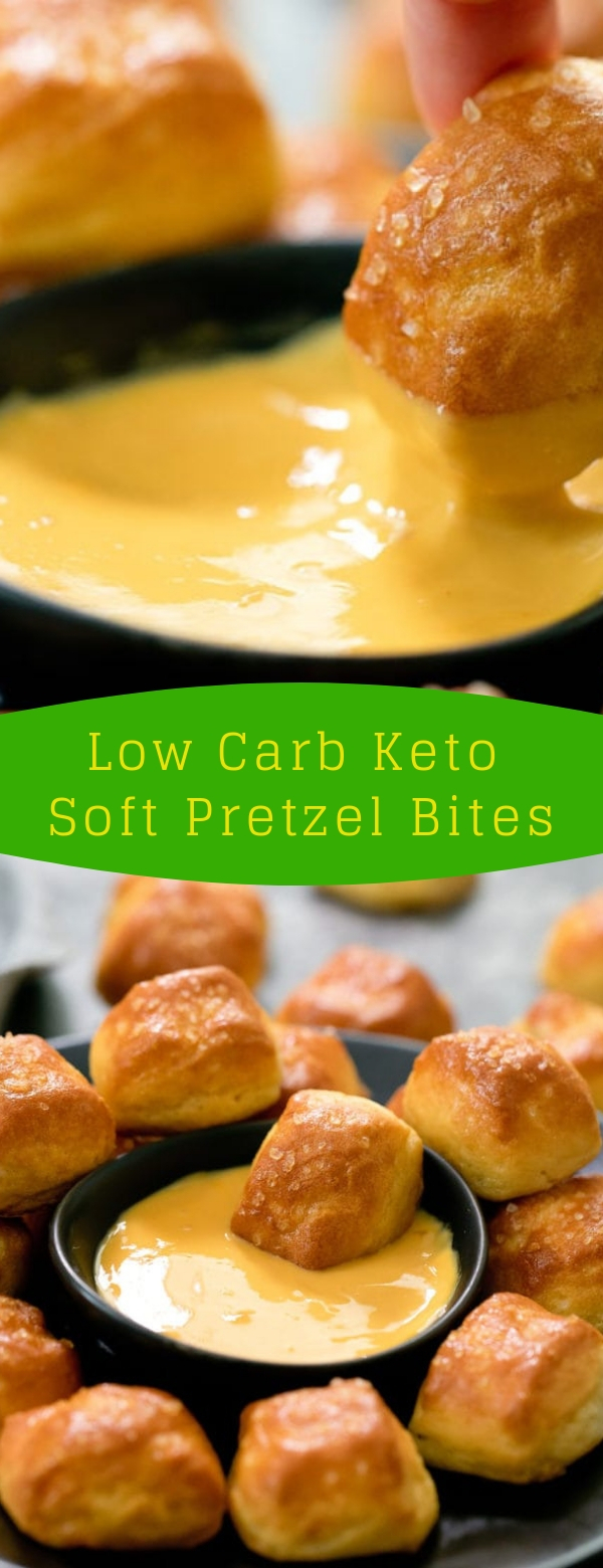 Low Carb Keto Soft Pretzel Bites #LOWCARB #KETO #KETORECIPES