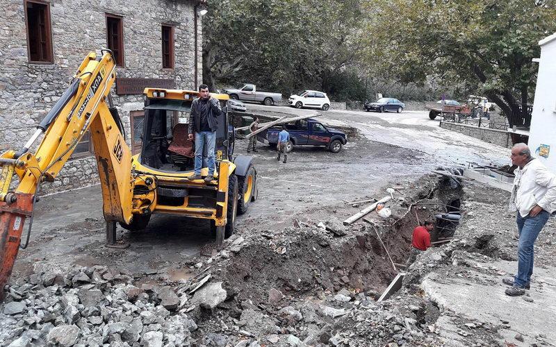 Ξεκίνησαν οι εργασίες αποκατάστασης του αγωγού αποχέτευσης στη Χώρα Σαμοθράκης