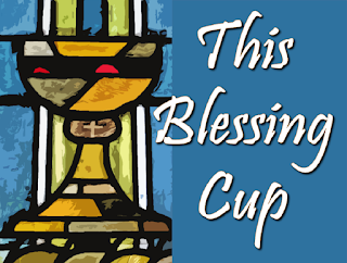 Chalice represented in stained glass, blue background.    Chorus:  This blessing cup is our communion In the Blood of Christ Each time you drink this cup You proclaim His death until He comes.  1 How can I repay the Lord for His goodness to me The cup of salvation I will raise And call on His name. 2 Father please hear my preayer May this chalice pass by But if you want that I should drink Your will be done.   3 To you I give my heart, You are father to me And I will live within your house Strong in your love.