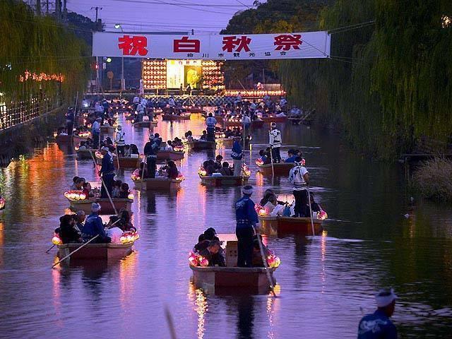 Hakushu-sai (boat parade), Yanagawa City, Fukuoka Pref.