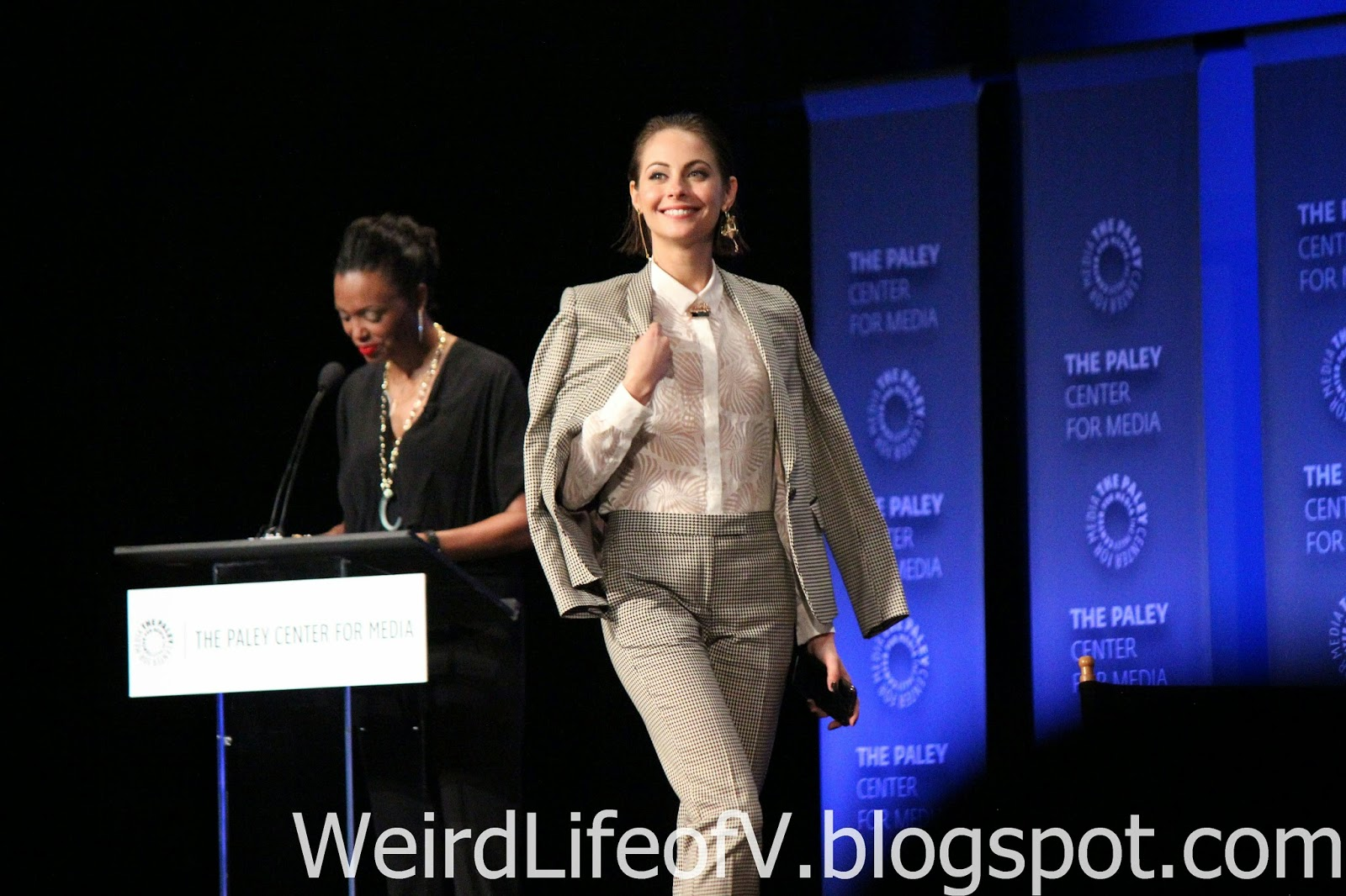Willa Holand walking on stage