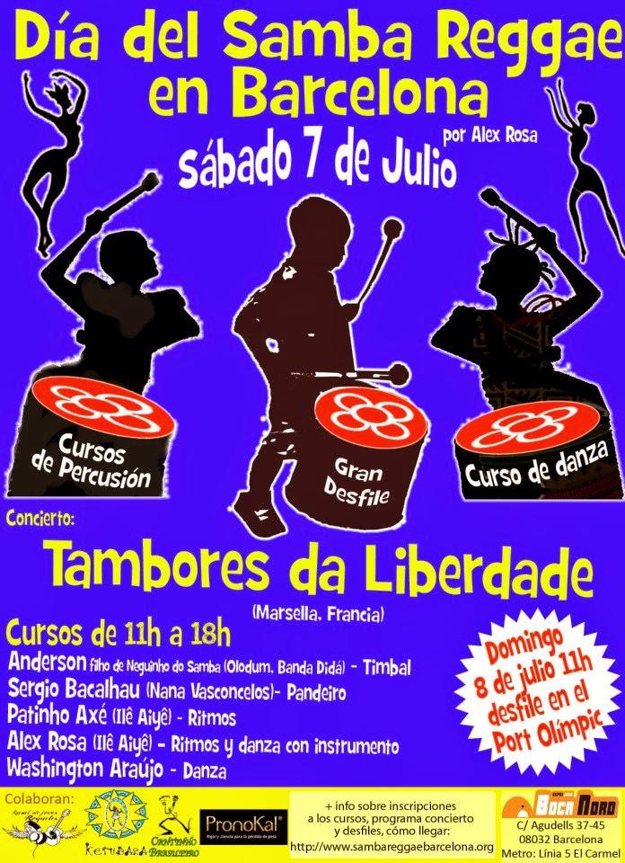 Batucada barcelona cursos alex rosa Ketubara espectáculo fiestas Samba reggae barcelona