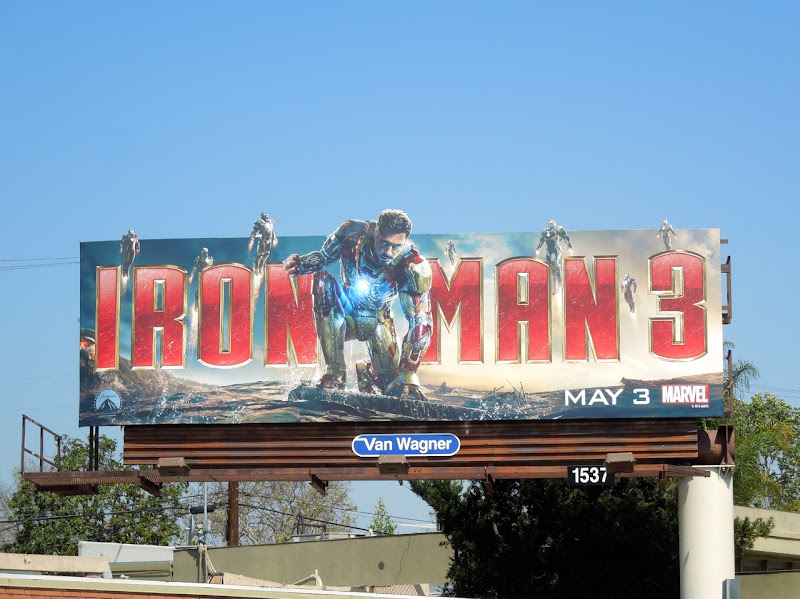 Iron Man 3 special extension movie billboard
