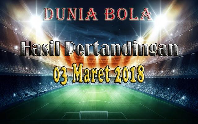 Hasil Pertandingan Sepak Bola Tanggal 3 Maret 2018
