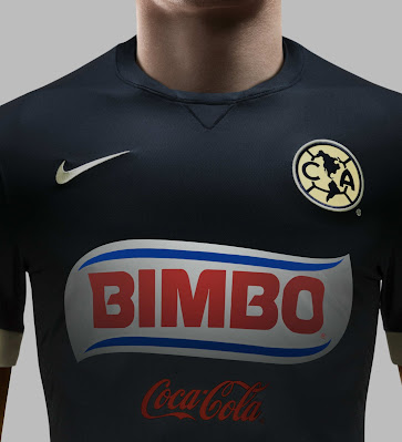 392dabdac53 While last season's Club America Kit featured a special triangular design  on the front, the new away kit is plain navy with a monochromatic club  crest.