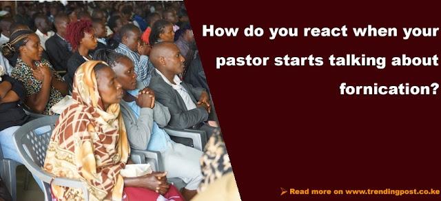 Kenyan pastor preaching to church members