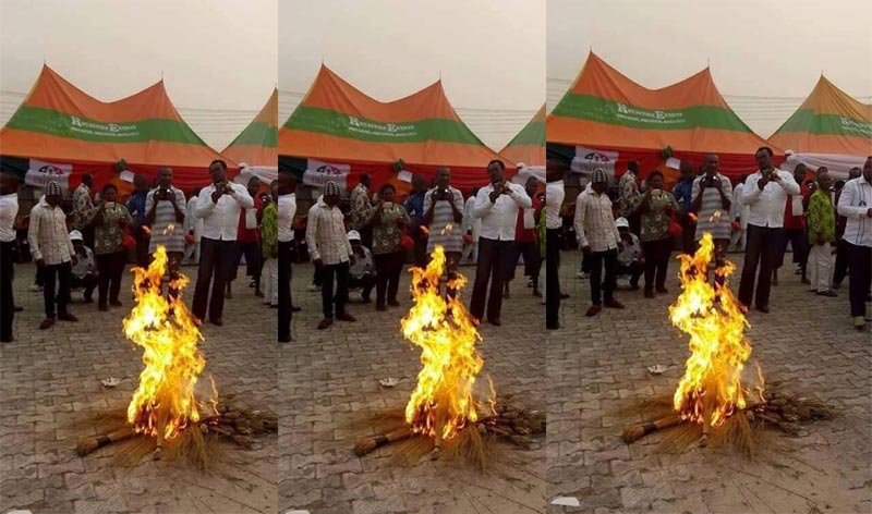 See what happened after Buhari left Edo State yesterday