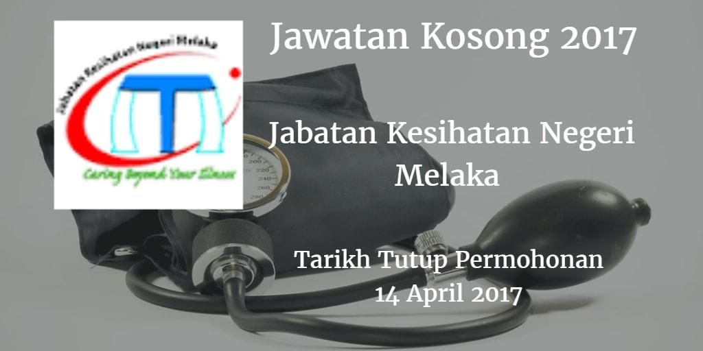Jawatan Kosong Jabatan Kesihatan Negeri Melaka 14 April 2017