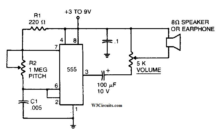 Simple Mosquito Repellent Circuit Diagram