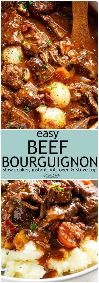 beef bourguignon  Adapting this Beef Bourguignon from Julia's best seller, Mastering the Art of French Cooking, this dish raises a simple beef stew to an art form and is not too difficult to make at all. You don't need to be an experienced cook to try this in your kitchen at home.