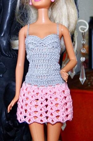 Vestido de crochê para Barbie passo a passo PAP 5