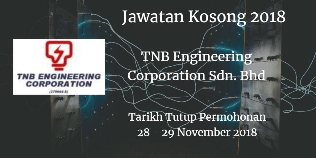 Jawatan Kosong TNB Engineering Corporation Sdn. Bhd 28 - 29 November 2018