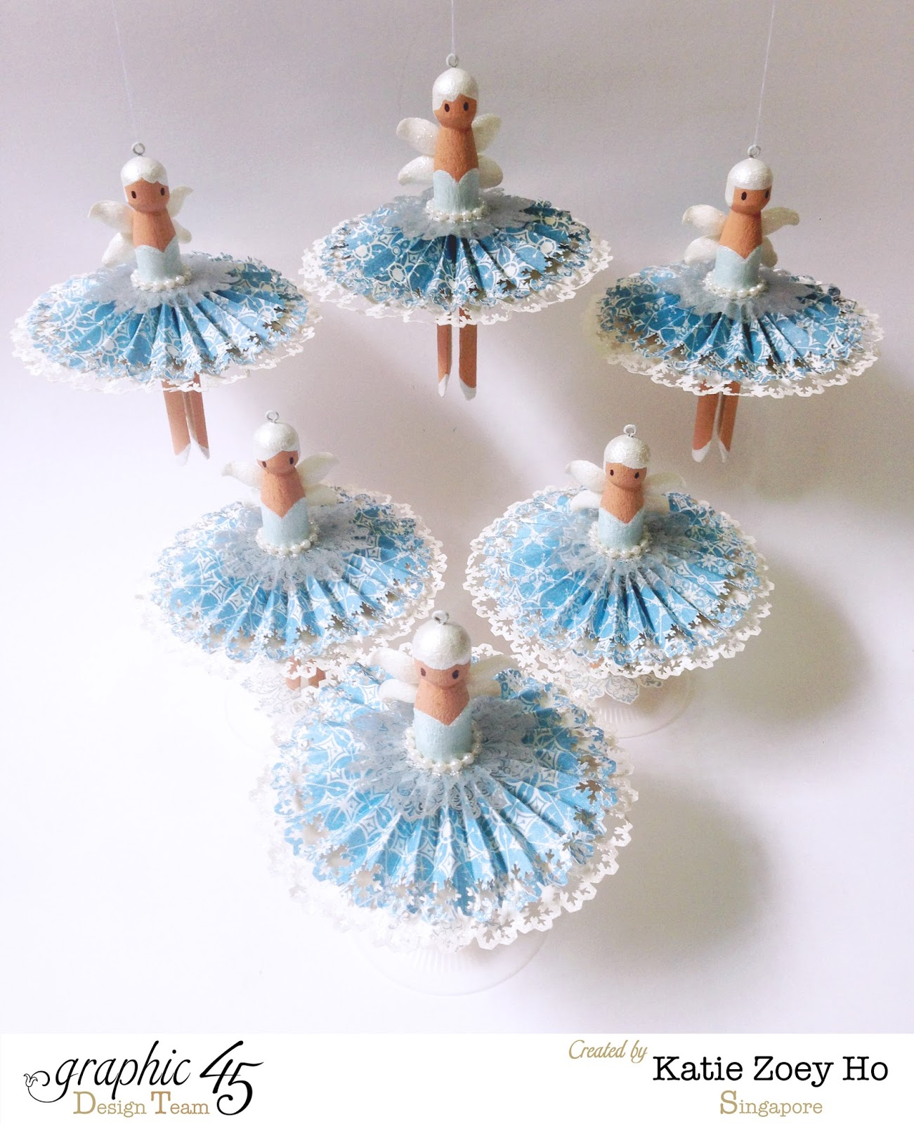 Katie Z Paperworks Some Little Snowy Fairies Waltzing This Holiday