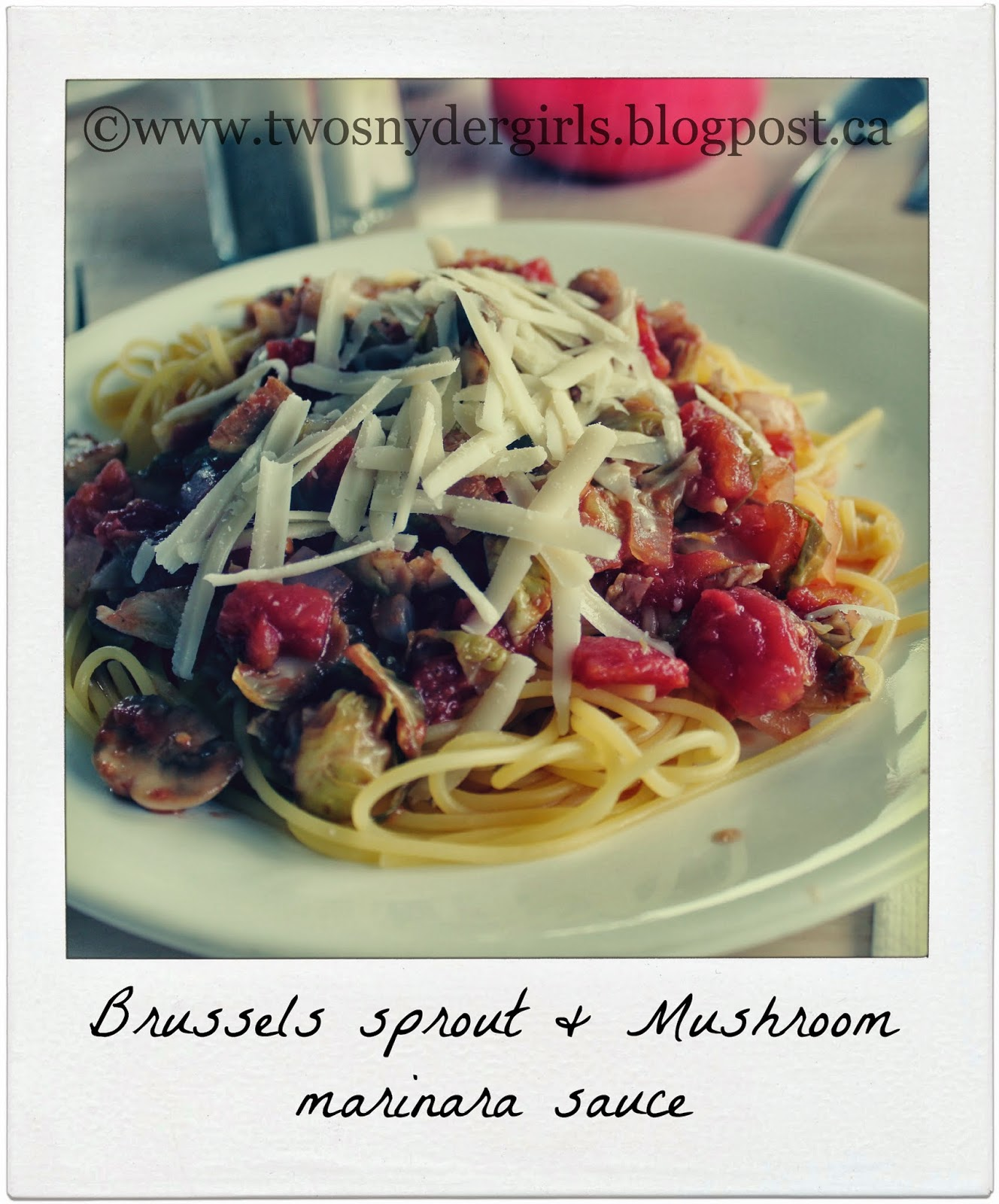 Brussels Sprout & Mushroom Marinara Sauce