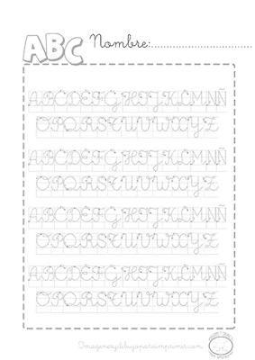 Caligrafia del abecedario en mayúscula