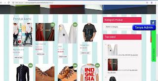 contoh tampilan toko online shop737