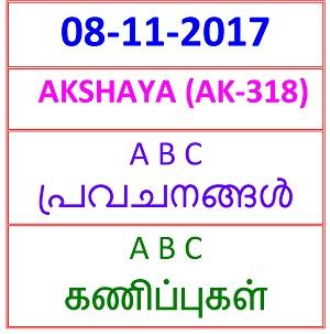 08 NOV 2017 AKSHAYA (AK-318) A B C  PREDICTIONS