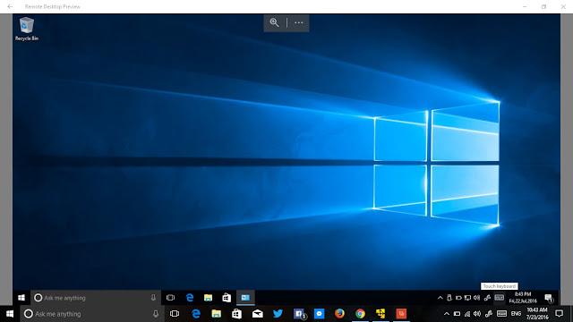 Hướng dẫn sử dụng ứng dụng Remote Desktop Preview trên Windows 10