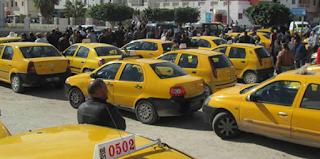 بنزرت : إثر إيقاف 13 محتجا.. أصحاب سيارات التاكسي واللواج يعتصمون أمام مقر الولاية