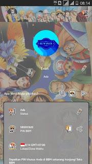 BBM Mod Tema One Piece Terbaru v3.3.1.24 APK Update Maret 2017 Full Fitur