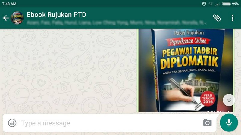 Group Whatsapp Calon Pegawai Tadbir Diplomatik