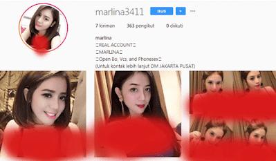 marlina 3411 akun instagram wanita panggilan