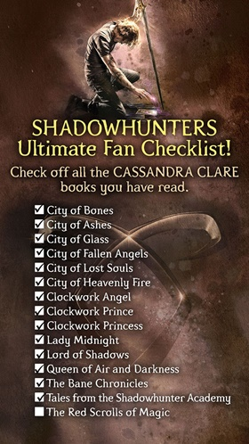 Shadowhunters Ultimate Fan Checklist