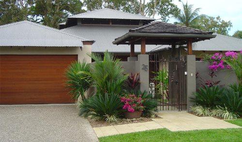 Desain Taman Kecil Depan Rumah Rancangan Desain Rumah