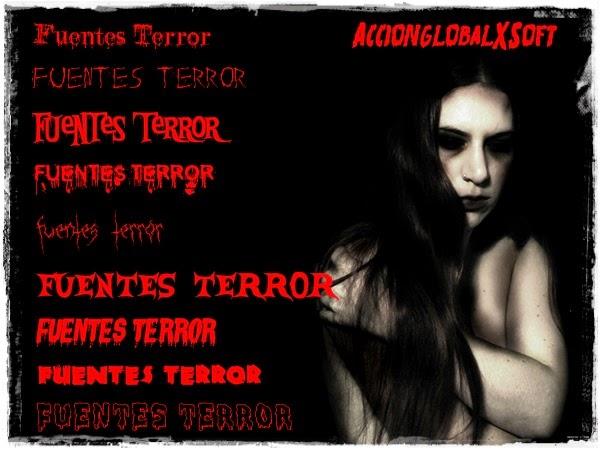 126 fuentes terroríficas para tus diseños de Halloween