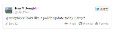 Twitter Tweet About Google Panda 23rd Update