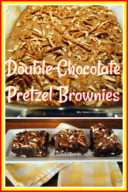 Double Chocolate Pretzel Brownies at Miz Helen's Country Cottage