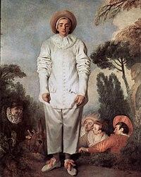 Pierrot también llamado Gilles, Watteau