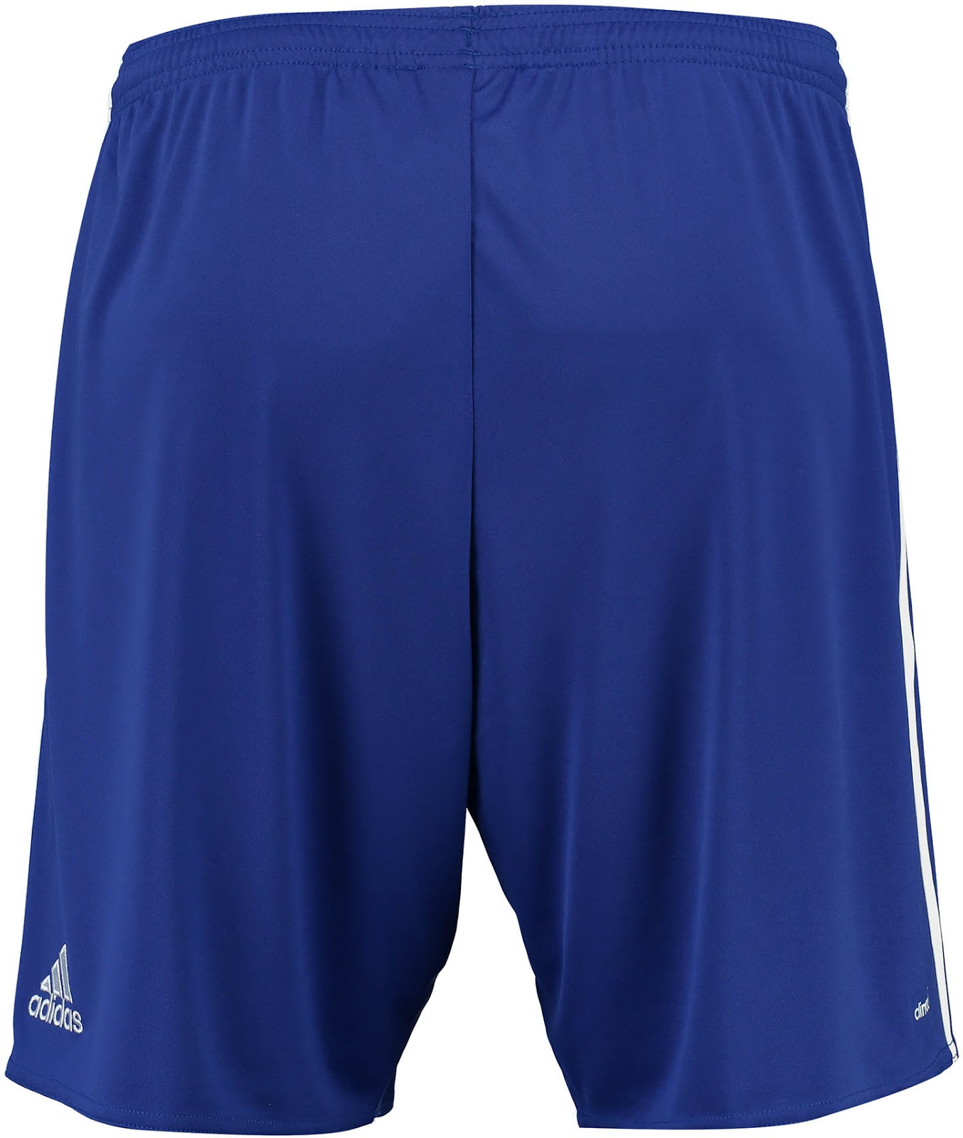 Completing the traditional blue-blue-white of Chelsea, the new Adidas Chelsea  2016-17 home kit shorts and socks are blue and white, respectively.