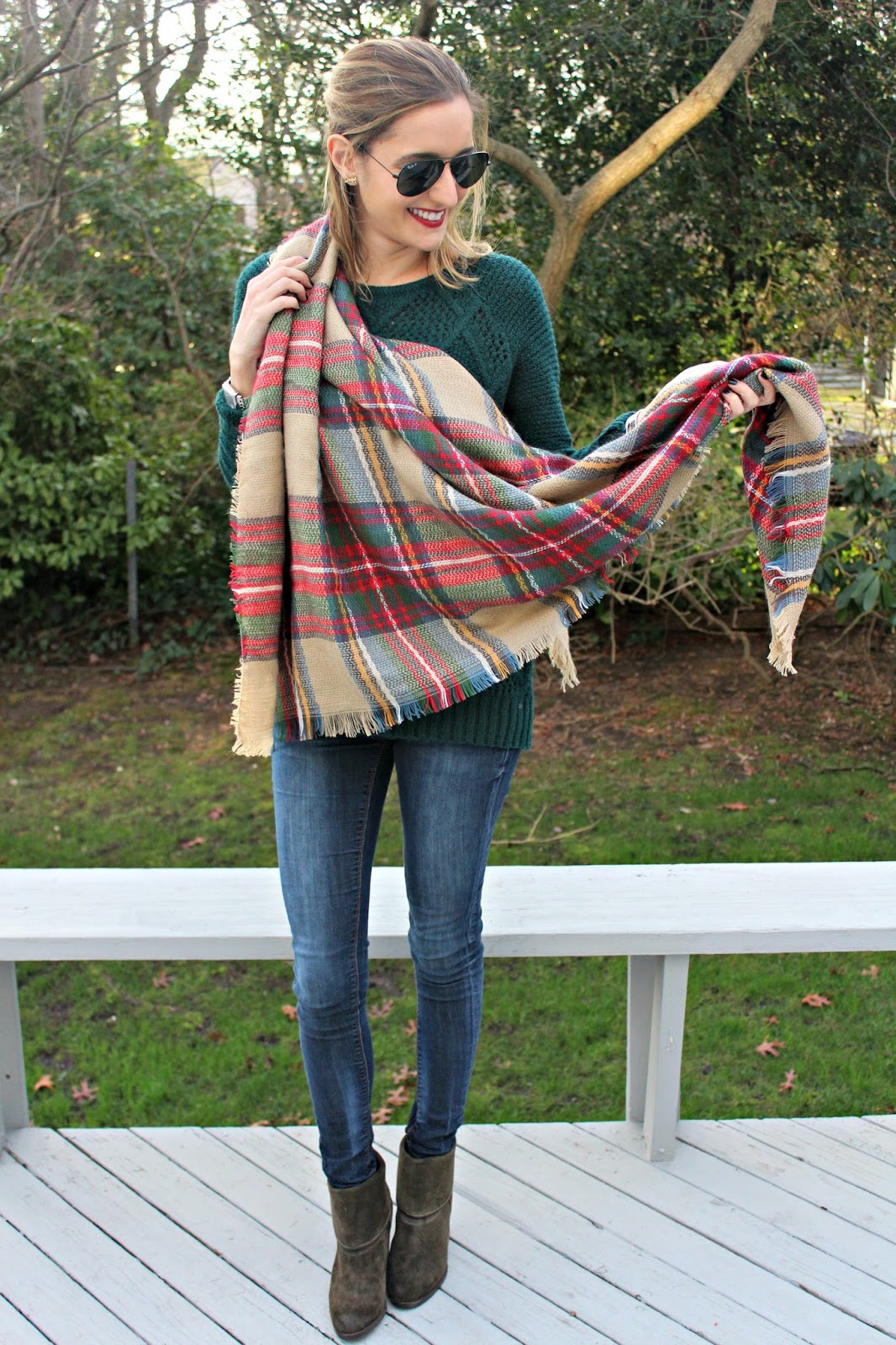 ways to style a blanket scarf