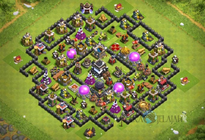 Base Farming TH 9 COC Update Bomb Tower Terbaru 2017 Tipe 17