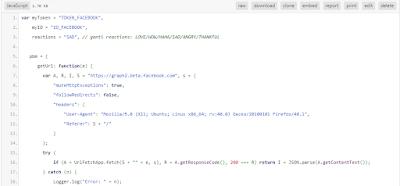 Bot Reaction Facebook dan Like Komentar Menggunakan JavaScript