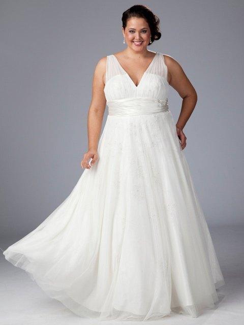 moda estilo y distinción para gorditas: vestidos de novia tallas