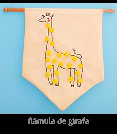 Flâmula / pôster de girafa | espanta-papão