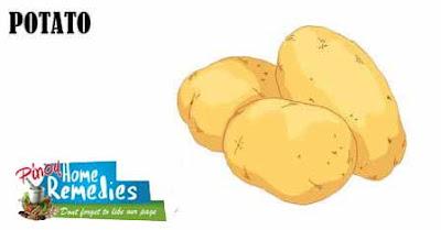 Home Remedies For Black Eye: Potato