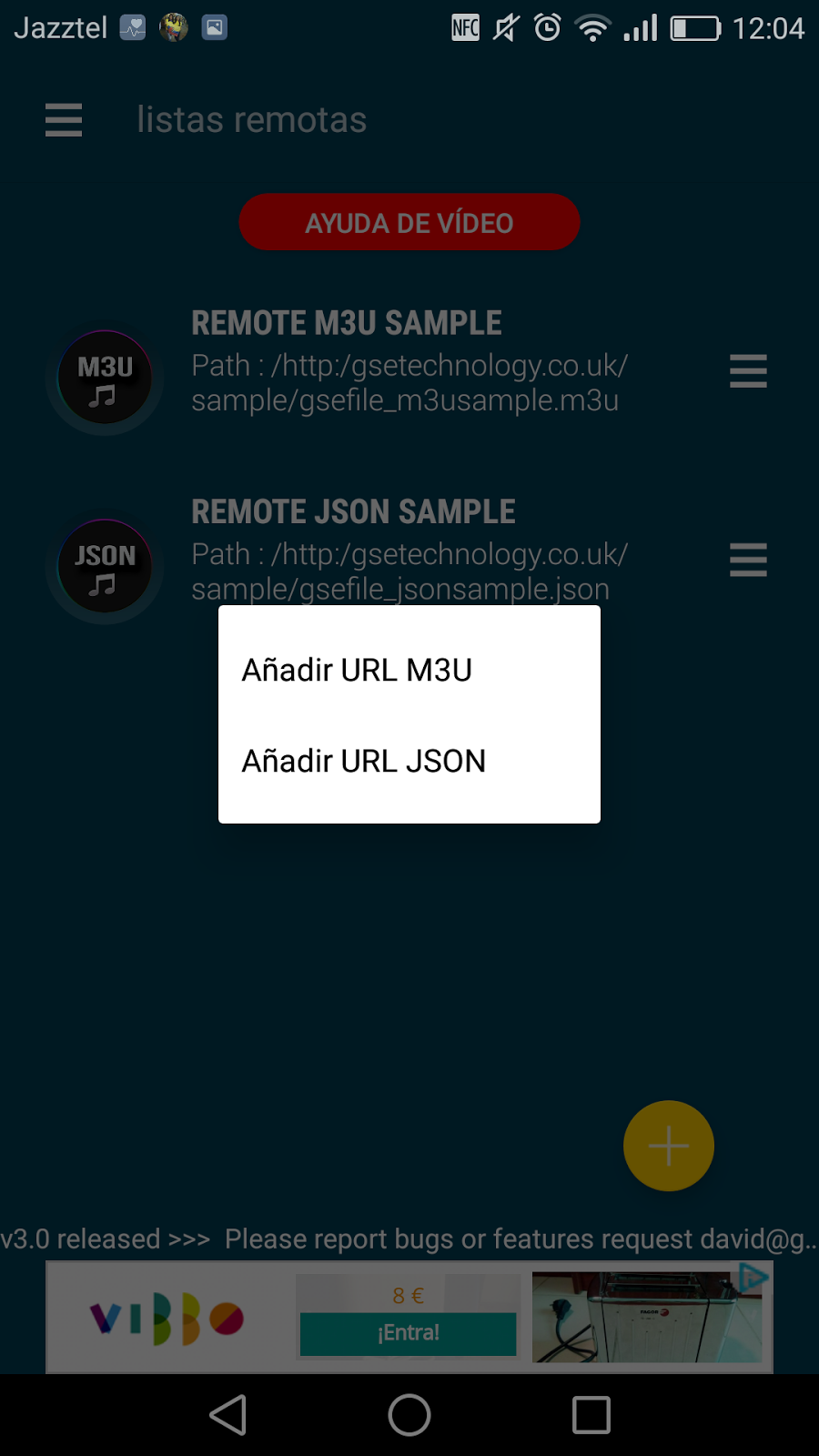 GSE IPTV: Reproductor de lista M3U y JSON en IOs y Android