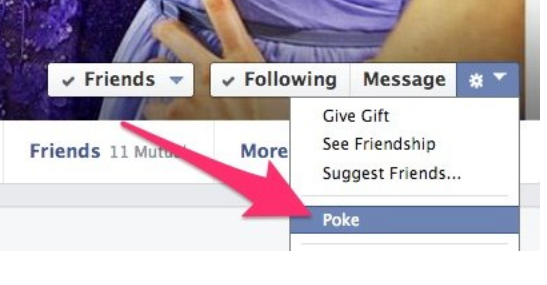 Poking On Facebook