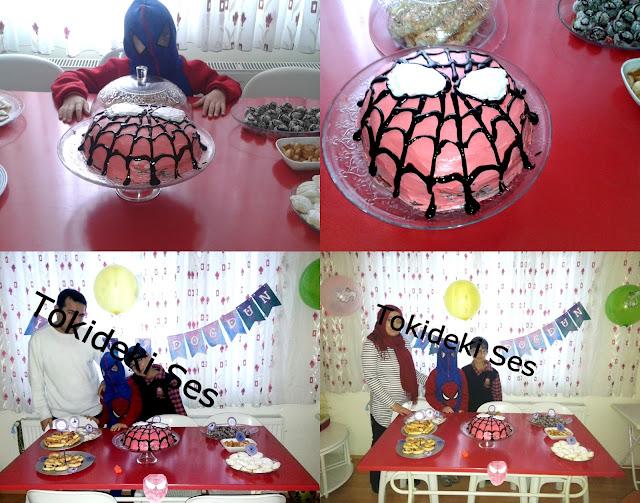 spiderman  temalı bir doğum günü
