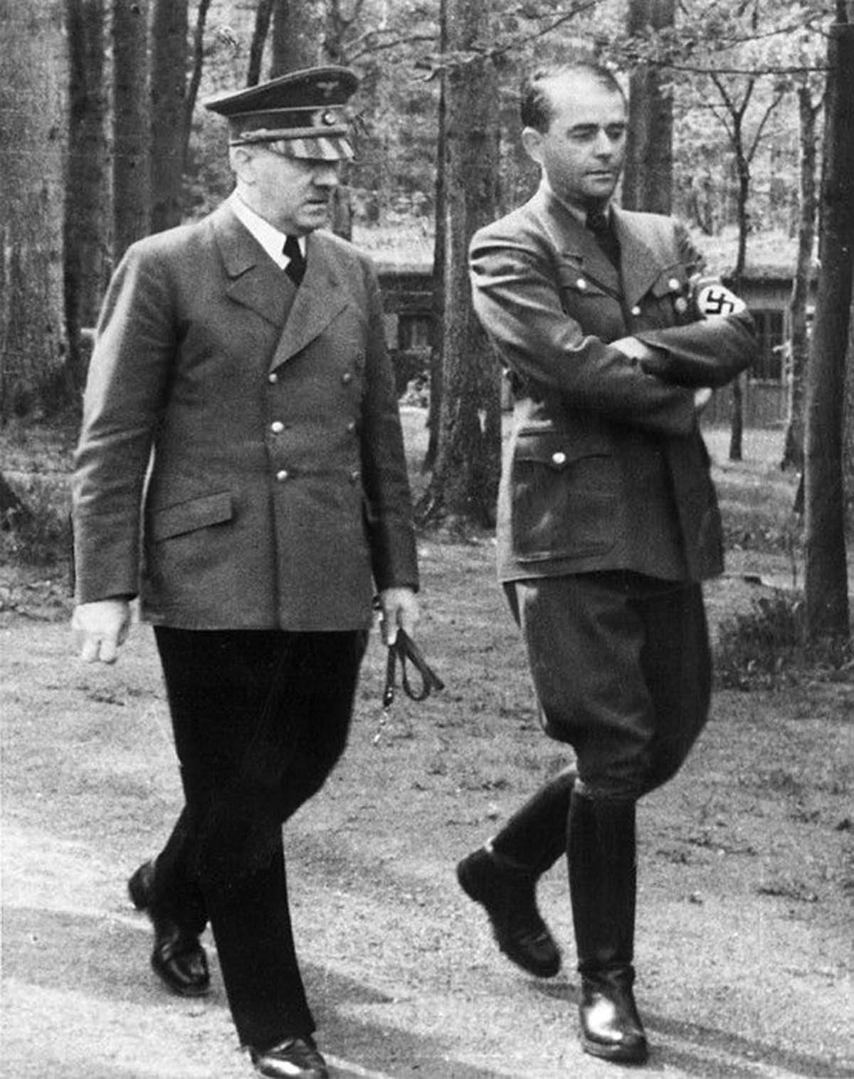 Speer and Hitler at the Wolfschanze during the war.