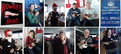 Christmas ukulele at Worthing Rowing Club