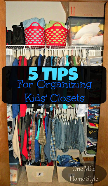 5 Tips for Organizing Kids' Closets | One Mile Home Style