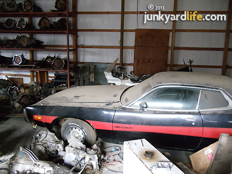 This all-original, low-mile 1973 Dodge Charger 440 has been parked at Stinnett's Auto Parts for more than 20 years.