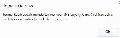 Cara Registrasi Member Untuk Mendapatkan kartu JLC JNE