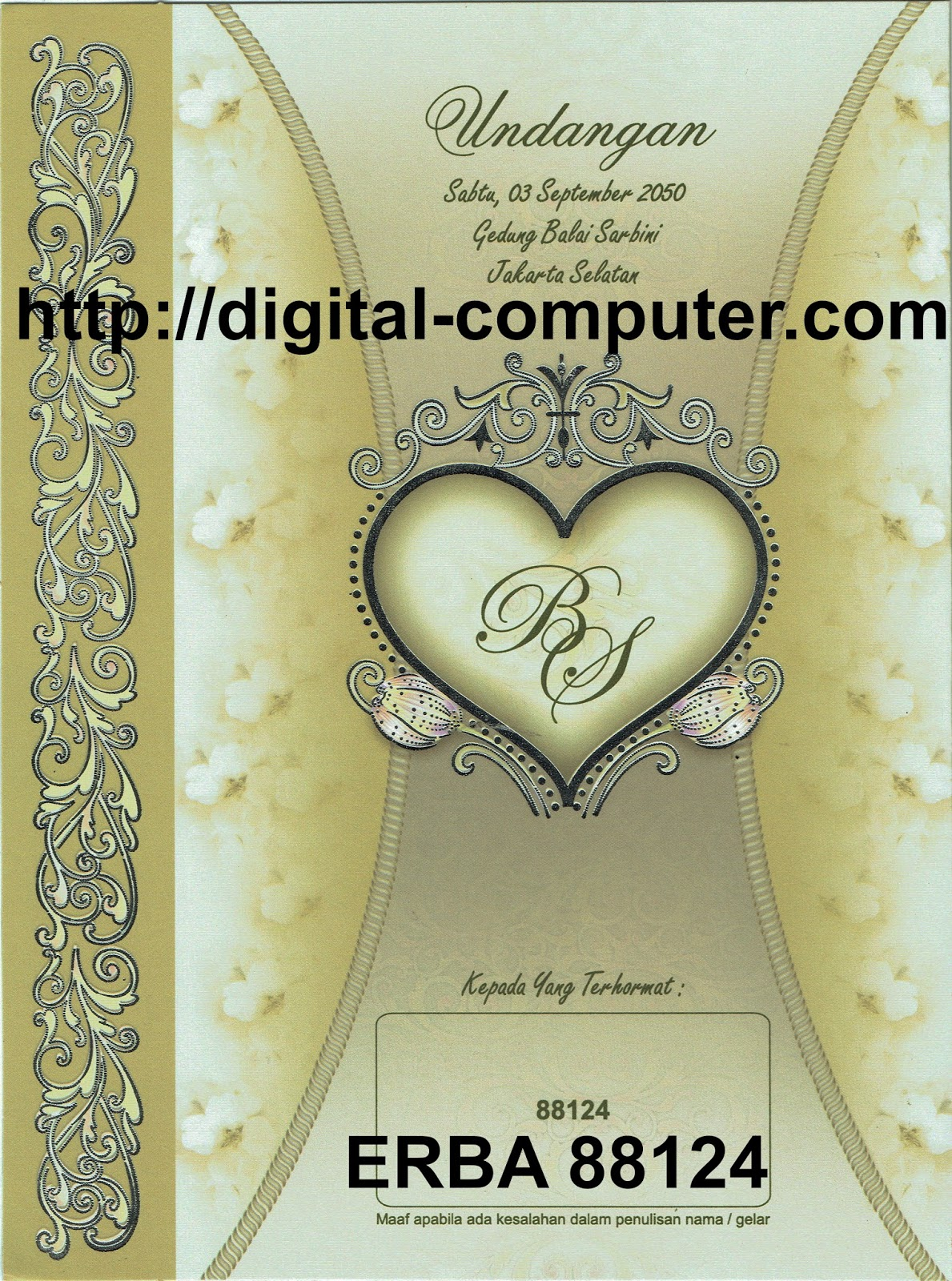 Undangan Softcover ERBA 88124