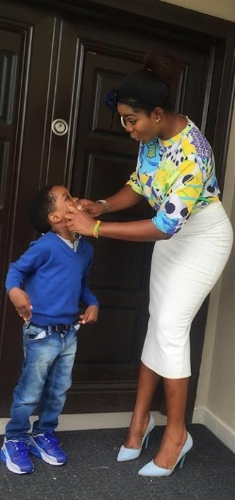 Wizkid's Babymama Shares New Adorable Photos With Son